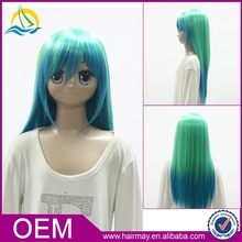 Green dark blue dark pink colorful naruto cosplay wig sex hatsune miku cosplay wig
