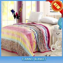 Knitted Technics and king/queen Size flower print flannel blankets