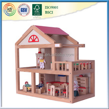 2015 pretend play wooden toys art craft doll house
