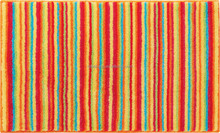 New design rainbow stripes microfiber bathroom comfort mat