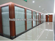 Aluminium window with blind/decorative partition glass wall with built in blin