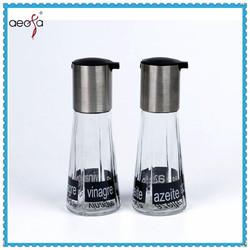 oil and vinegare bottle glass cruet bottle vinegar oil