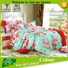 4 pcs high quality printed queen bed sheet set
