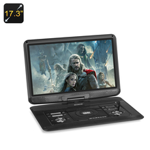 17.3 Inch Portable DVD Player - 1366x1280 TFT LED Screen, 270 Degree Swivel, 16:9 Aspect Ration, SD Card, TV/Game/E-Book,