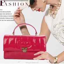High quality pu leather ladies handbag