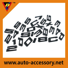 gloss black color custom auto parts car letter emblems