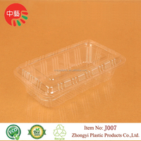 clear disposable packaging clamshell plastic food container