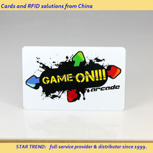 Custom game card printing - ISO plastic credit card size with magnetic stripe
