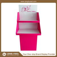 custom OEM design environmental friendly cardboard material display with pedestals
