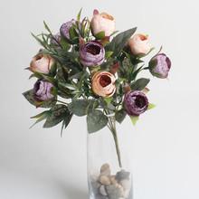 Fashion design decorative rose artificial rose bouquet flower Manufacturer for decoration