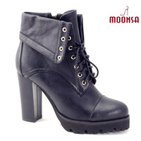 XG079 women punk winter tyre sole ankle boots