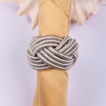 New Design Silver thread woven round napkin ring