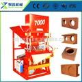 Máquina simple! Eco 7000 maestro de bloqueo de ladrillo con la máquina de la prensa hidráulica para el ladrillo de arcilla