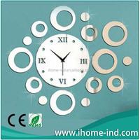 China wholesale small manufacturing ideas decorative mirror wall clocks