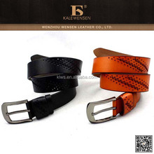 Newest leather belt with rivet