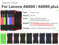 Fashionable Popular heavy duty armor kickstand TPU+PC 2 in 1 case For Lenovo A6000/A6000 Plus Hard case mobile phone case cover