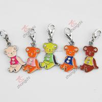 Fashion jewelry enameling bear custom made charms