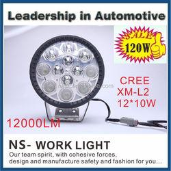 Round 120W Super Bright 18000 Lumens Heavy Duty High Powered LED Spot Flood Comination Work Light