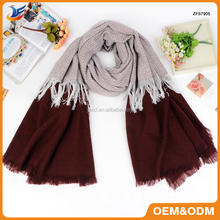 Customize Fall&Winter Color Matching Europe&America Brand Plaid Pashmina Scarves