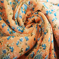 100% polyester printed floral chiffon fabric for lady dress