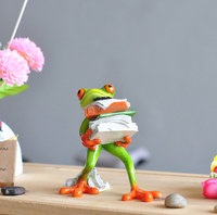 resin frog table decor figurines Frog statue Resin crafts Animal sculpture