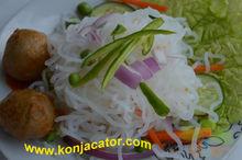 Perdita di peso degli alimenti- il basso calorie tagliatelle konjac, 2 mintui tagliatelle