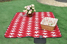 Star pattern polar fleece camping outdoor mat