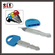 Plastic colorful artificial key shaped ballpoint pen