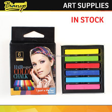 Custom cheap price 6pcs set penny board chalk pastel/oil pastel/pastel gel pen for hair