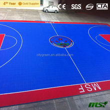 Wholesale - Waterproof Plastic Outdoor Basketball Court Floor, Multi Purpose Interlocking Sports Flooring