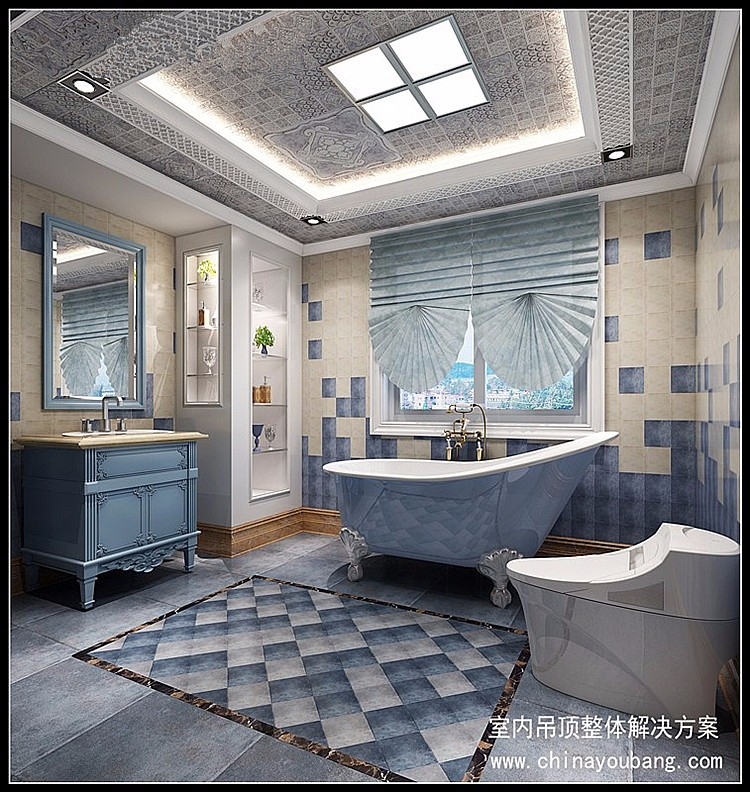 Style m diterran en mat riaux de construction m tal for Materiaux plafond salle de bain