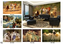 wallpapers design European classical landscape murals characters 3D wallpaper