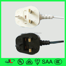 3--13A/250V BS. UK England electric cable has 8 shape C7 connector and Mickey Mouse plug
