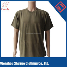 cheap army color blank t shirt ,quick dry t shirt