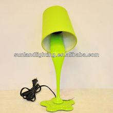 2014 Modern Table lamp,green plastic desk lamp