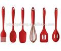 Utensilios de cocina, juego de espátulas de silicona para glasear, herramientas de cocina-espátula ranurada para voltear, cuchara ranurada, cuchara, batidora de huevos, cepillo, pala