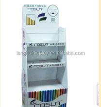 paperboard dangler store display Hot sale color printed flooring retail carton display counter floor corrugated display