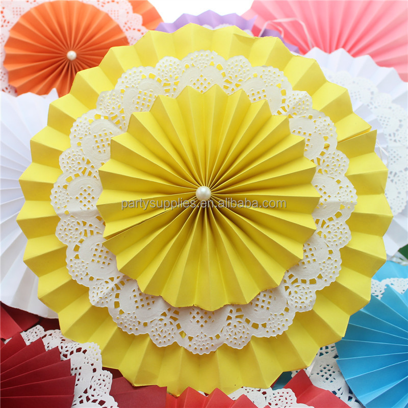 Holiday Supplies Party Paper Fan Hanging Paper Fan Decoration For Wedding Festival Buy Hanging Decoration For Parties Paperhandmade Paper
