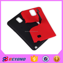Wholesale alibaba high quanlity phone case 3 in 1 stand armor for Samsung Note 4 ,plastic packaging cell phone case for Note 4