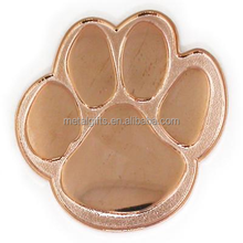 cute paw pin copper color plated lapel pin animal lapel pin manufacturer