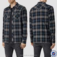 wholesale men african shirt custom plaid button up shirt chambray shirt