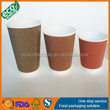 2015 hot sell 12oz 16oz 20oz custom printed disposable ripple wall paper coffee cups double wall cups