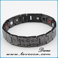 tungsten ceramic bracelet 2015 fashion healthy design jewelry germanium,negative ion,magnetic women tungsten bracelets jewerly