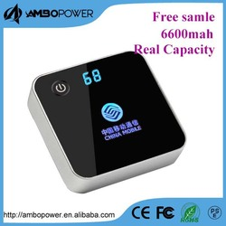 rohs power bank 6000mah/mobile power supply