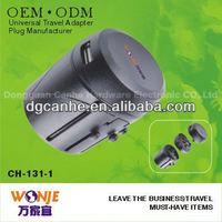 110V-250V universal multiple plug socket for global use with EU UK US AU Malaysia singapore type socket