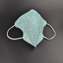3D Single-use Printed Nonwoven Face Mask Green Dot Design with FDA Approval