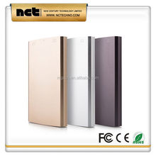 Popular updated li-polymer power bank with metal case