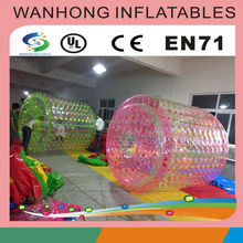 Inflatable toy style and PVC material inflatable water roller, large infaltable ball rolling on water, water roller