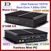 Intel celeron 1037U 1.8G Dual core Fanless industrial x86 embedded mini box pc with 1080p dual lan,vga,rs232 Kingdel