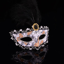 Wholesale Hot Selling Plastic Lady Halloween Plain Masks